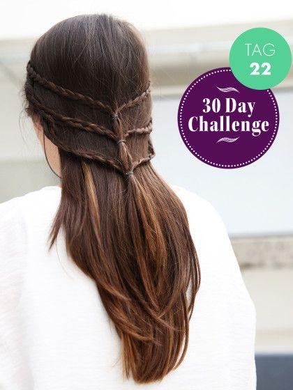 30 Day Challenge Neuer Tag Neue Frisur Tag 22 Einfache