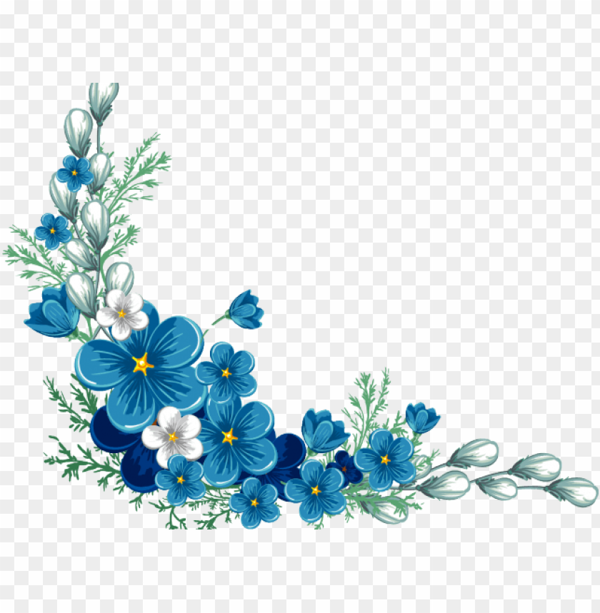 Ucretsiz Png Cicek Sinirlari Png Seffaf Resimler Kraliyet Mavi Cicek Png Seffaf Arka Plan Png Goruntuleri Sef Flower Border Flower Border Png Blue Flower Png