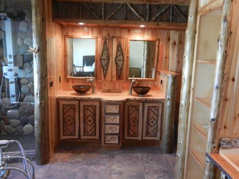Adirondack Style On Pinterest Vanities Rustic Furniture