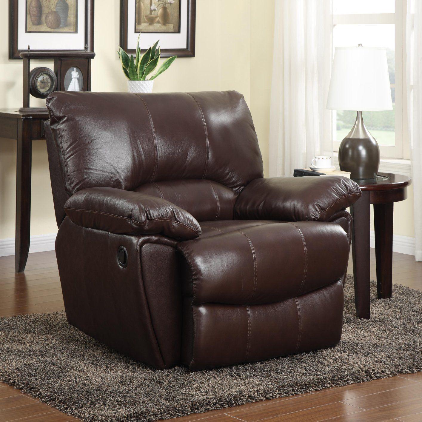 Braun Leder Liege Stuhl - - Brown-Leder-Lehnstuhl : eine charmante