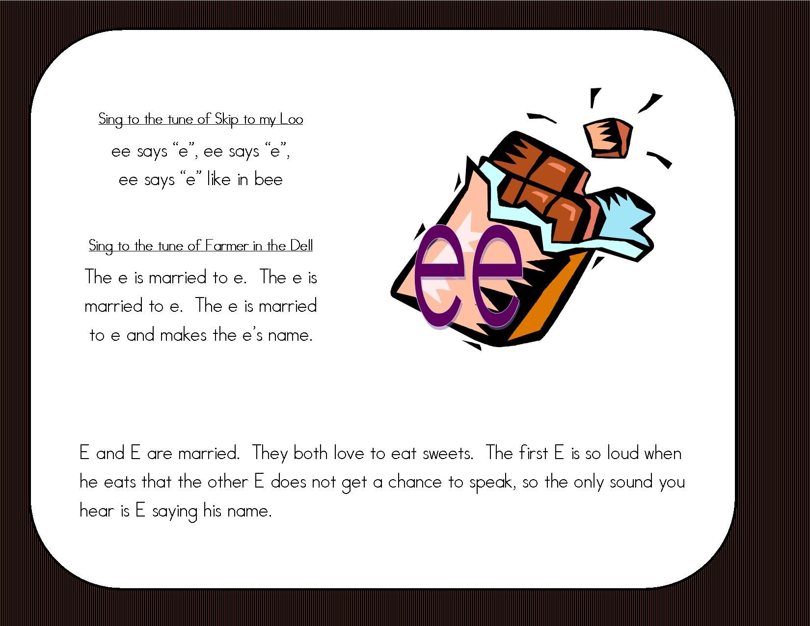 Ee Ea Story Printable Story Wall Signs And Literacy
