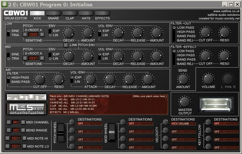 FREEWARE (VST.Win) CBW01 Digital dj, Drum machine, Audio