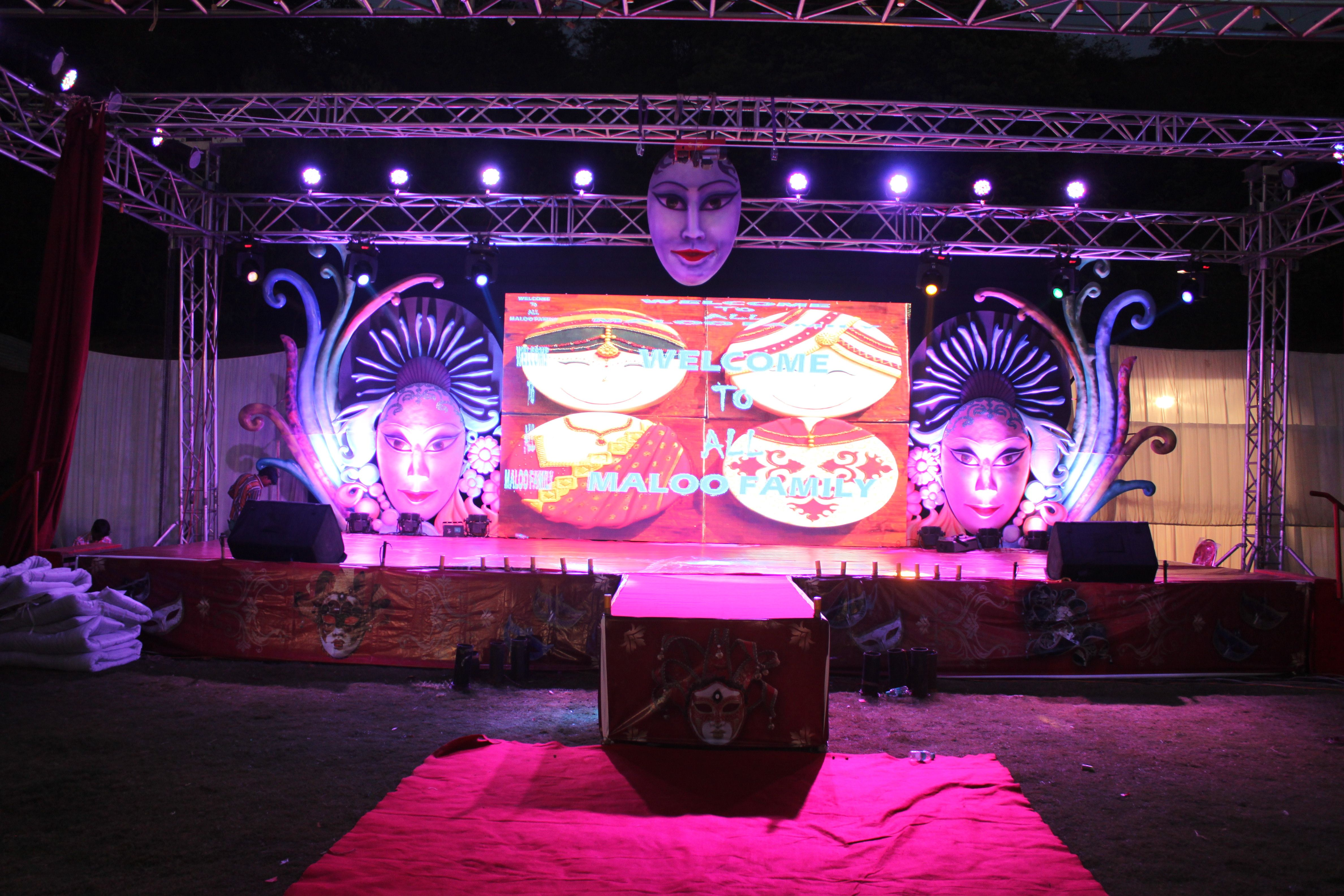 Carnival theme wedding Sangeet will surely add joy, fun and colors ...