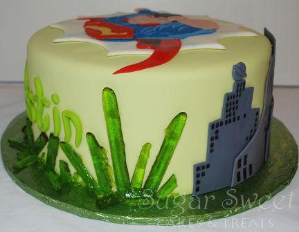 Superman Kryptonite Cake (and Sugar Glass Recipe)