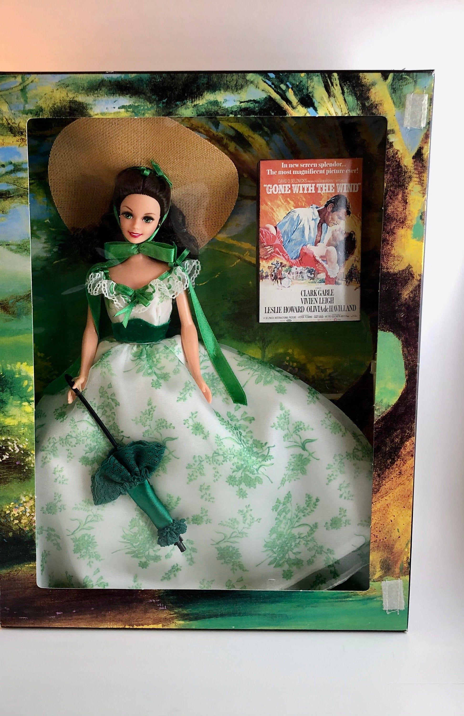 1994 Barbie Gone With the Wind Folding Backdrop Board !