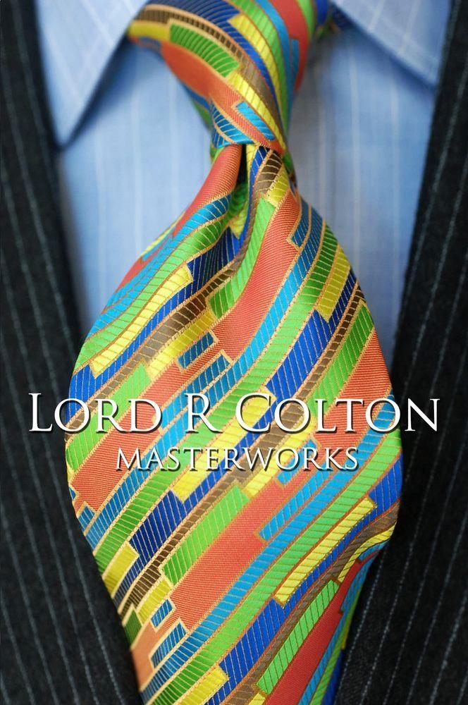 Lord R Colton Masterworks Tie - Pink Miami Art Deco Silk Necktie - $195 New #LordRColton #NeckTie