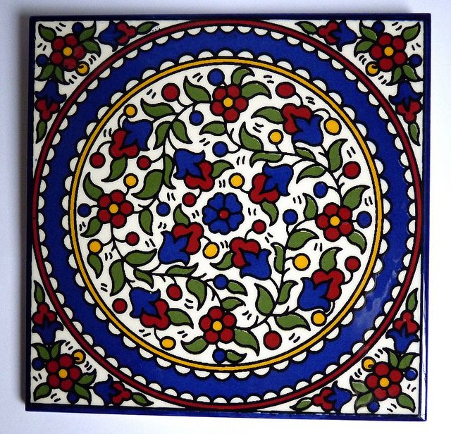 Armenian Tile Fl Color 6x6 By Pangea Home Collections