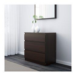 Kullen 3 Drawer Chest Black Brown Ikea