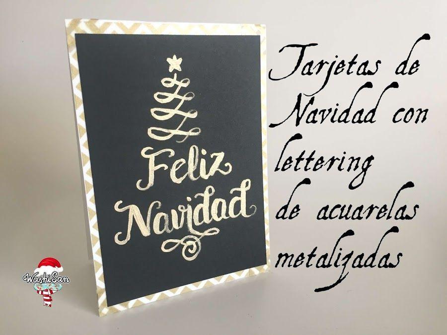 Tarjetas Navideñas Con Un Toque Metalizado Tarjeta Navideña Tarjetas Bricolaje De Tarjetas De Navidad