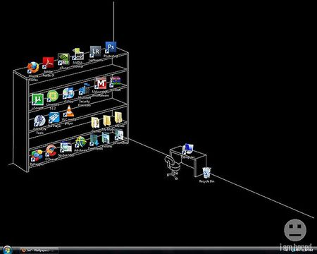 Creative Desktop Wallpaper Makes Good Use Of Icons