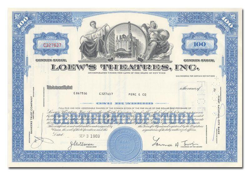Wells Fargo \ Company stock certificate, 1970 Original Stock - blank share certificates
