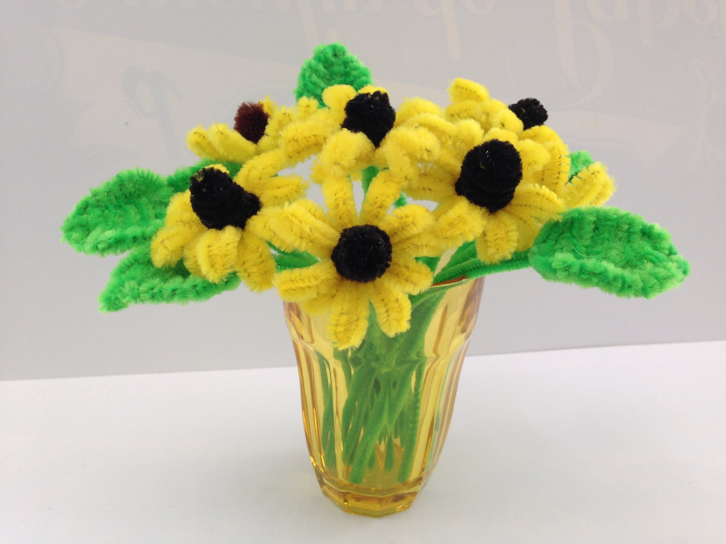 Pipe cleaners arts and crafts - Yellow Pipe Cleaner Flower Diy Tutorial 30