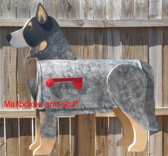 Blue Heeler Mailbox Love Wonder If They Have Beagles And Bassetts