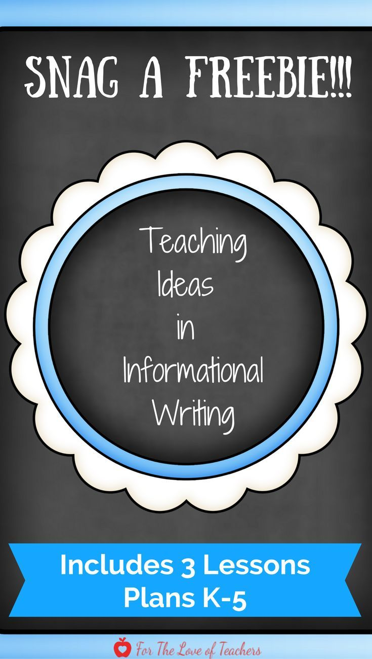 Need help teaching the trait of ideas in informational writing? Snag ...