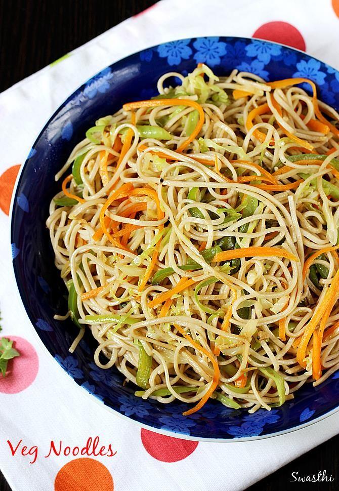 Veg Noodles Recipe How To Make Noodles Vegetable Noodles