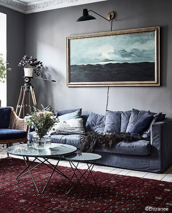 S'inspirer avec Selency un salon gris Modern farmhouse