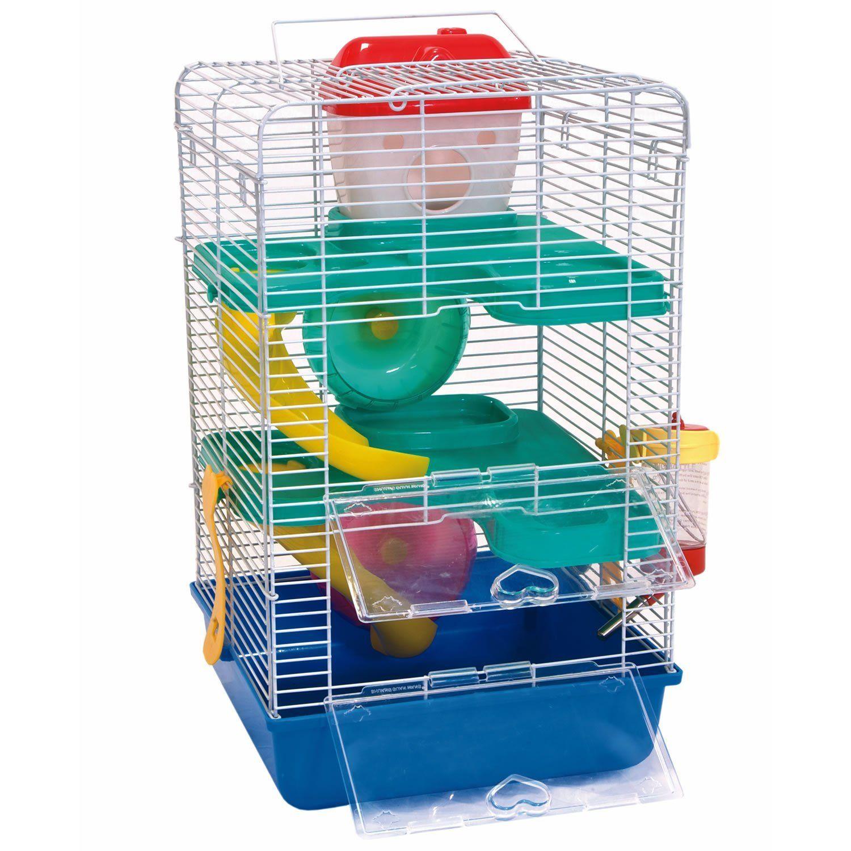 liberta virgo ii dwarf hamster cage for 2 house wheels. Black Bedroom Furniture Sets. Home Design Ideas