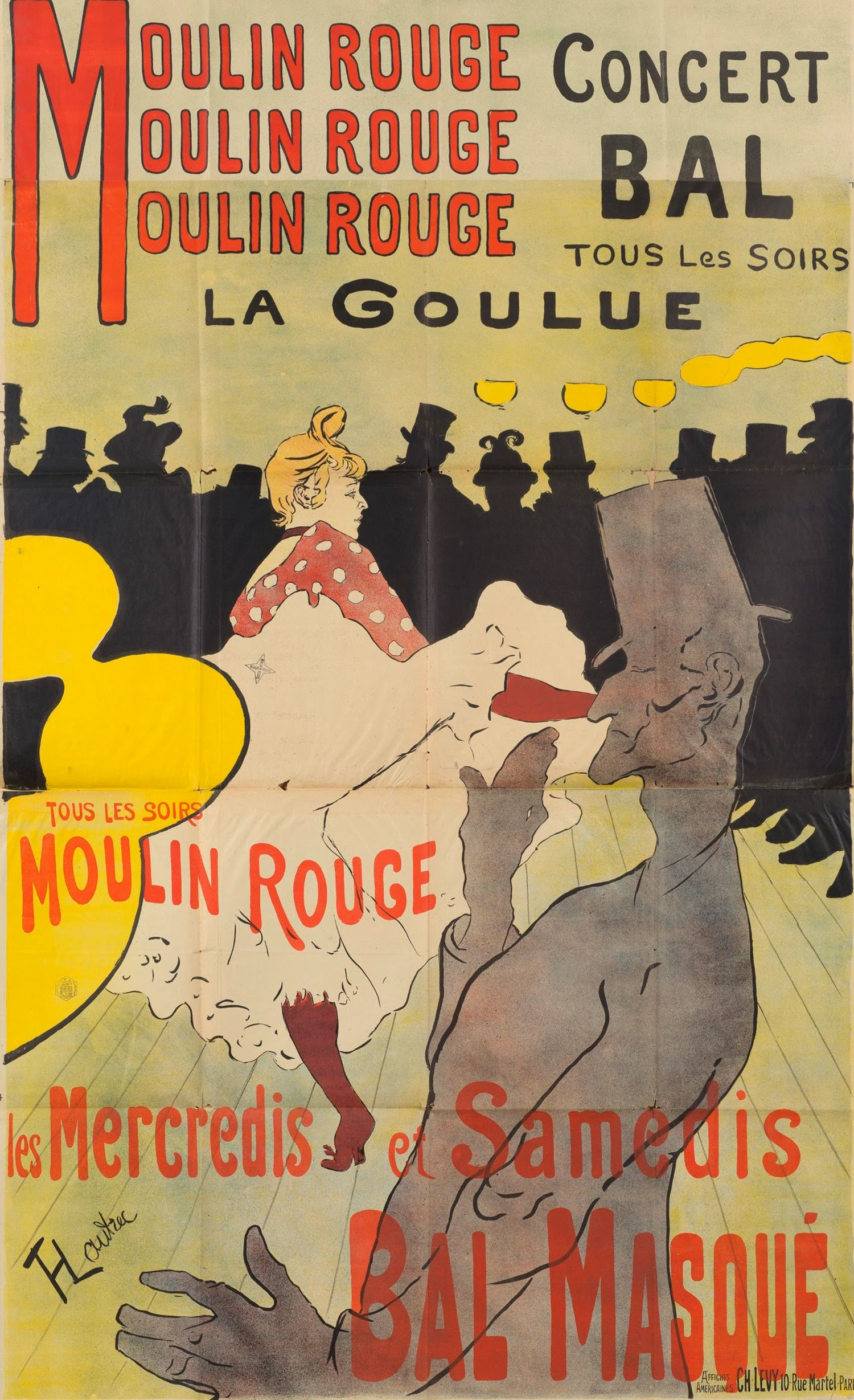 In the early there was a movement of painters who also did poster art these artists such as talouse lautrec