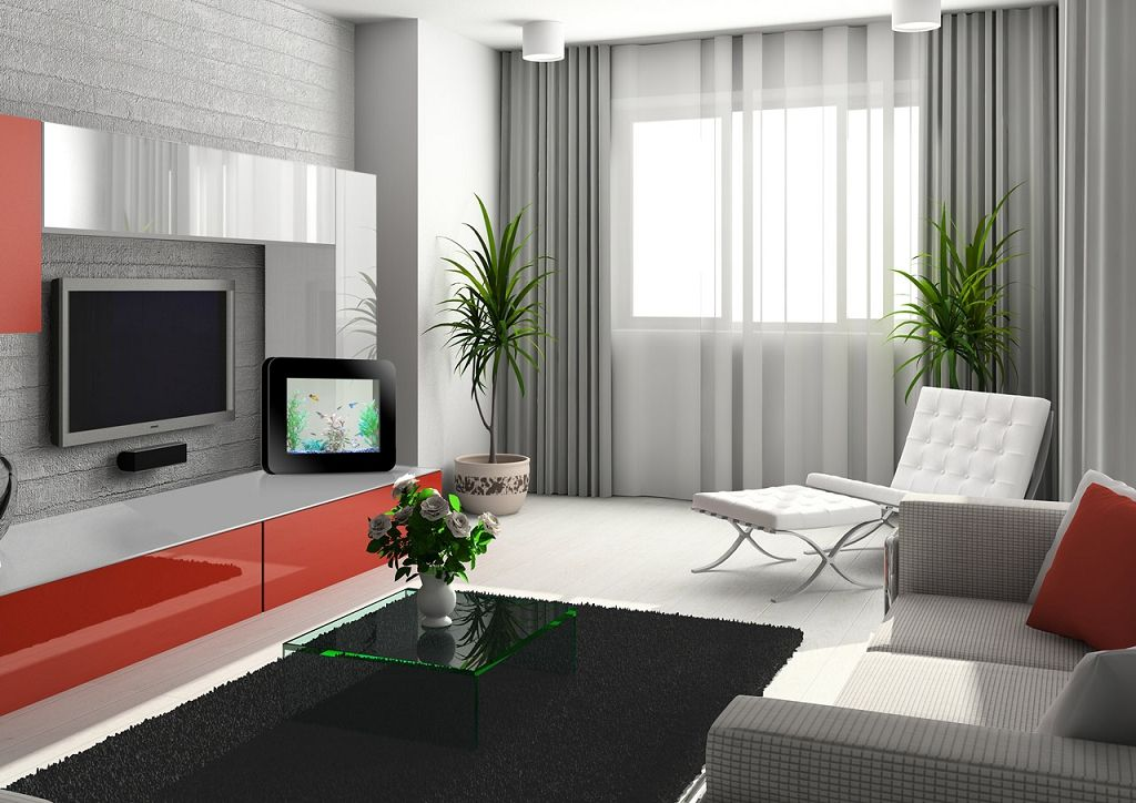 Sala Tv Cortina Gris Sala De Apartamento Pequeno Salones Grises Cortinas Para La Sala