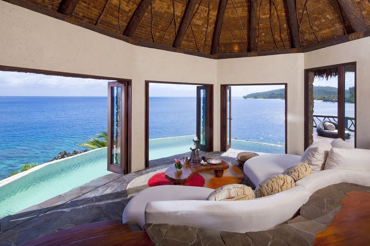 Laucala Island - Fiji A private island resort set... in 2020 | Beautiful  living rooms, Luxury hotel, Island resort