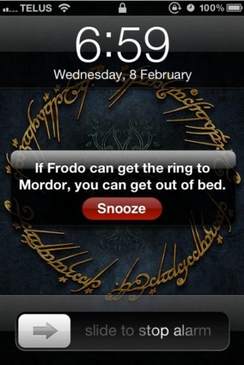 I need motivational alarm messages.