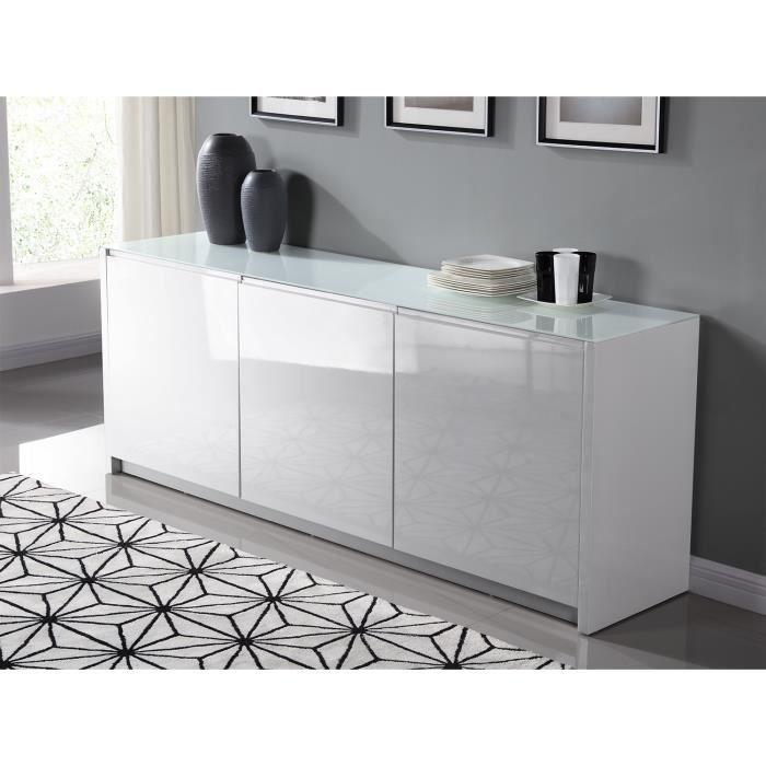 les buffets pura buffet 200cm dot de 3 portes pour acc der aux 6 compartiments. Black Bedroom Furniture Sets. Home Design Ideas