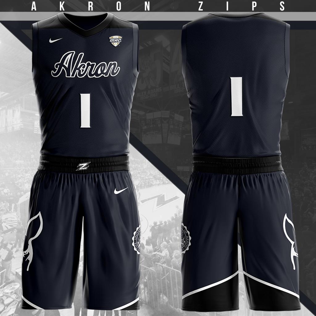 new product 7cd23 b842b Akron Zips Away Uniform | Basketball Uniforms and Clothing ...