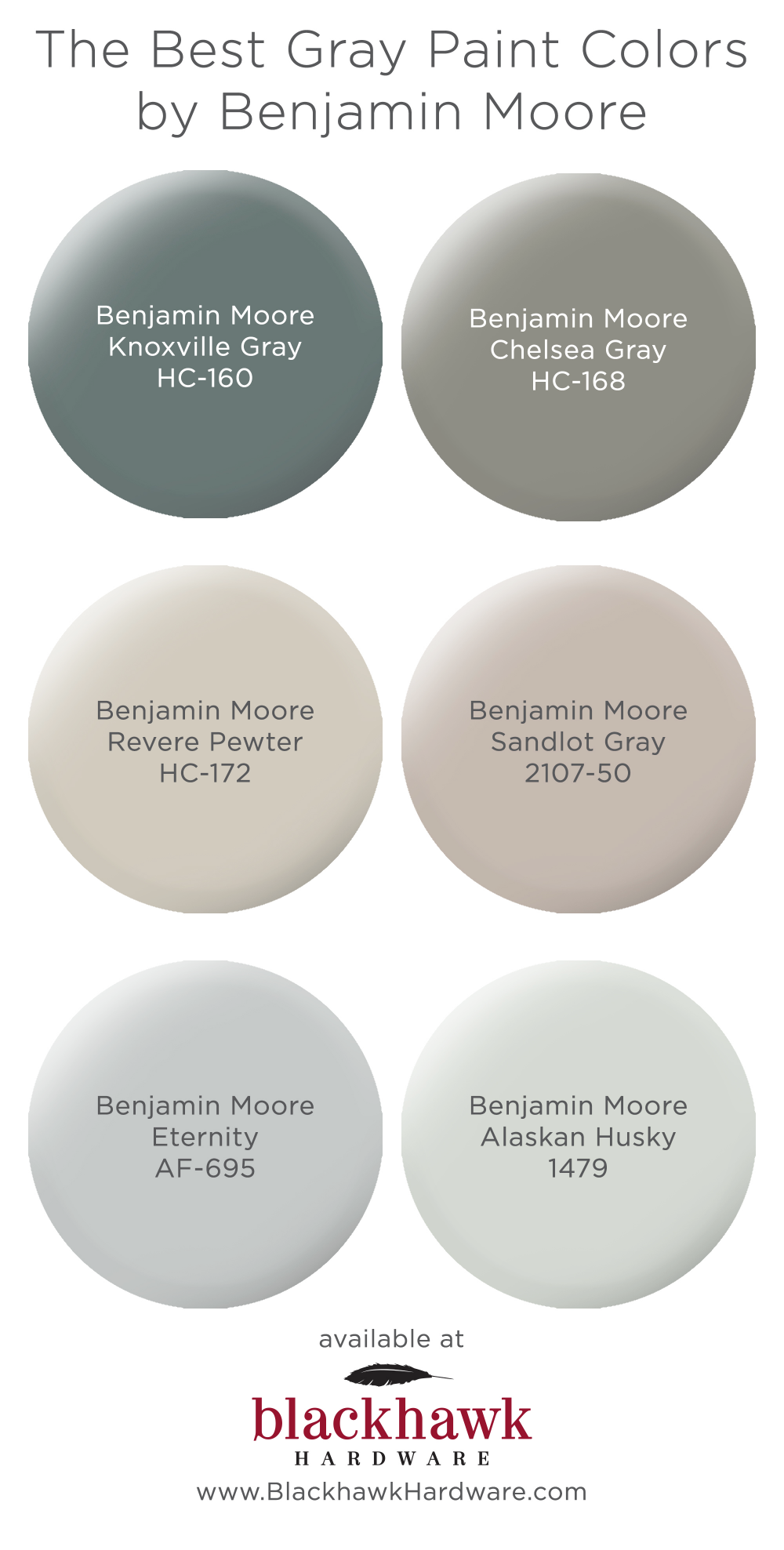 The Best Gray Paint Shades by Benjamin Moore #indoorpaintcolors