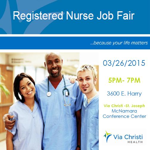 Via Christi Rn Jobfair On 03 26 2015 3600 E Harry Mcnamara Conf Center Http Bit Ly 1avk Healthcare Professionals Registered Nurse Jobs Health Care