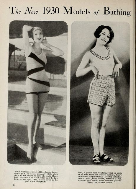 dfa87fb0aa The new 1930 models of bathing suits   Long Branch   Vintage bathing ...