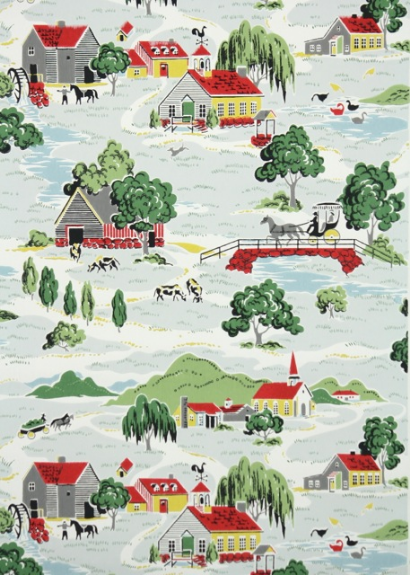 For a Retro Kitchen Vintage wallpapers Country farm and Farming