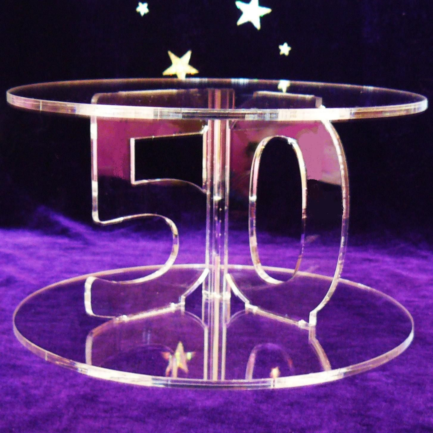50th Birthday Theme Decorations | 50th Birthday Cake Stand - The ...