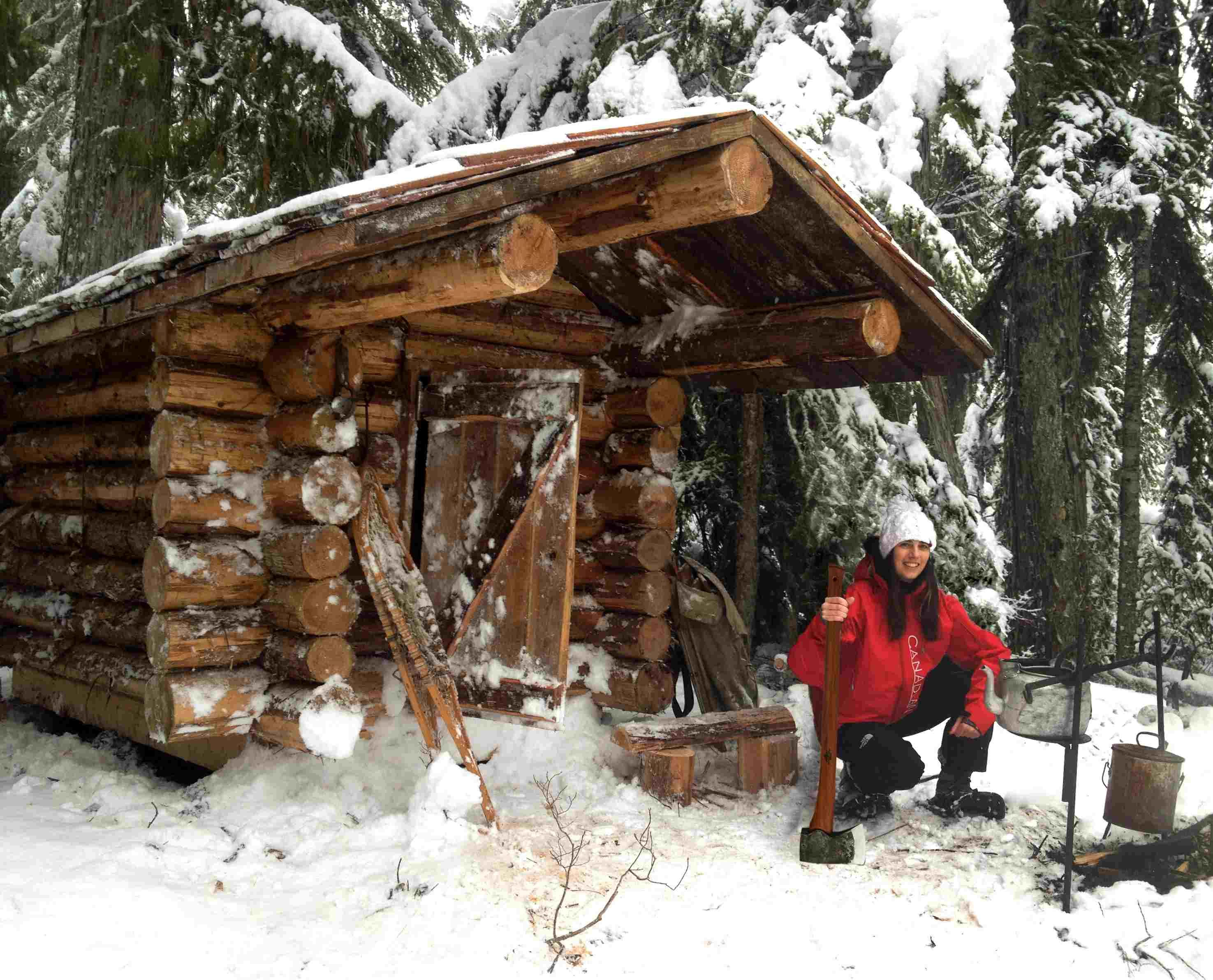 "back to nature. ""the wilderness,"" is a 6x10-foot romantic log cabin"