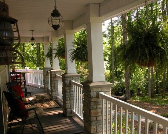 Simplicity Boston Ferns Front Porch Remodel Porch Remodel Front Porch Stone
