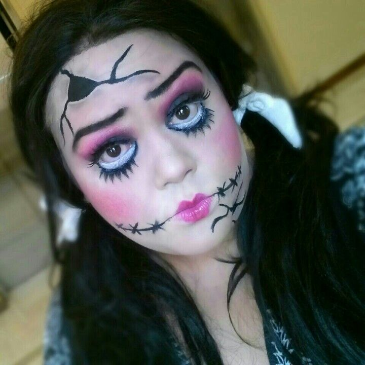 Scary Porcelain Doll Makeup