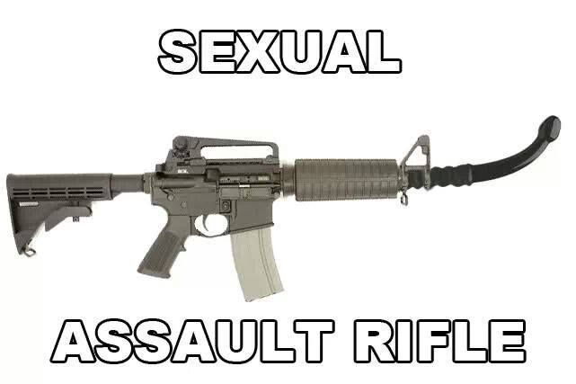 Sexual jokes about firearms
