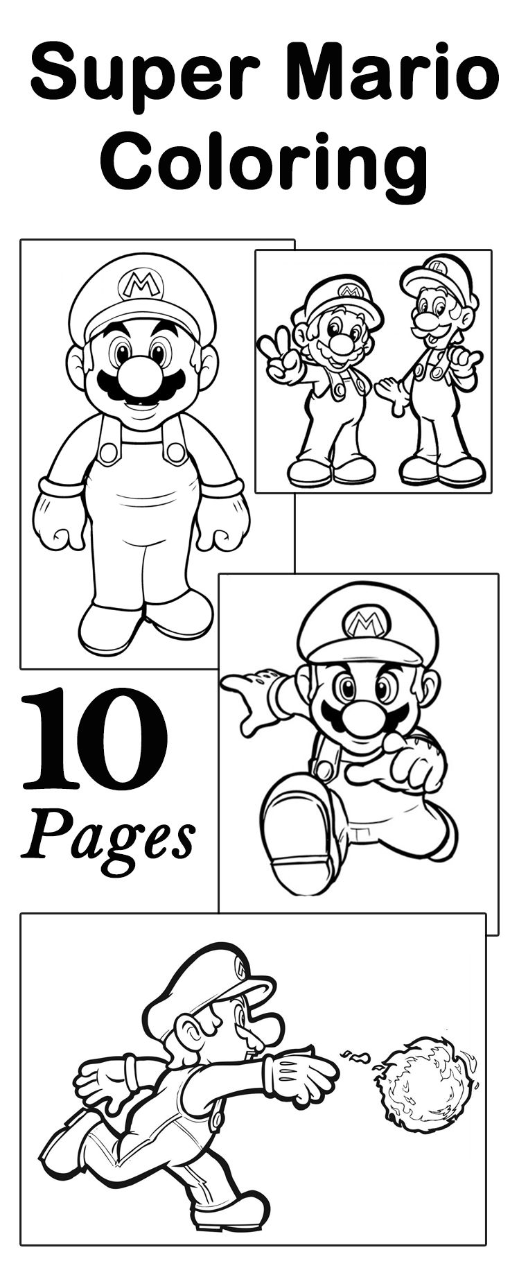 Coloring pages for kids mario bros - Top 20 Free Printable Super Mario Coloring Pages Online