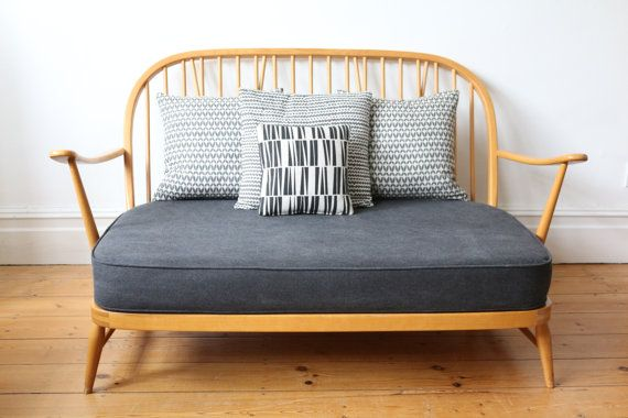 Sold Vintage Ercol Windsor Two Seater Sofa By Owlandtheelephant