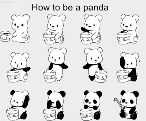 How to be a panda??