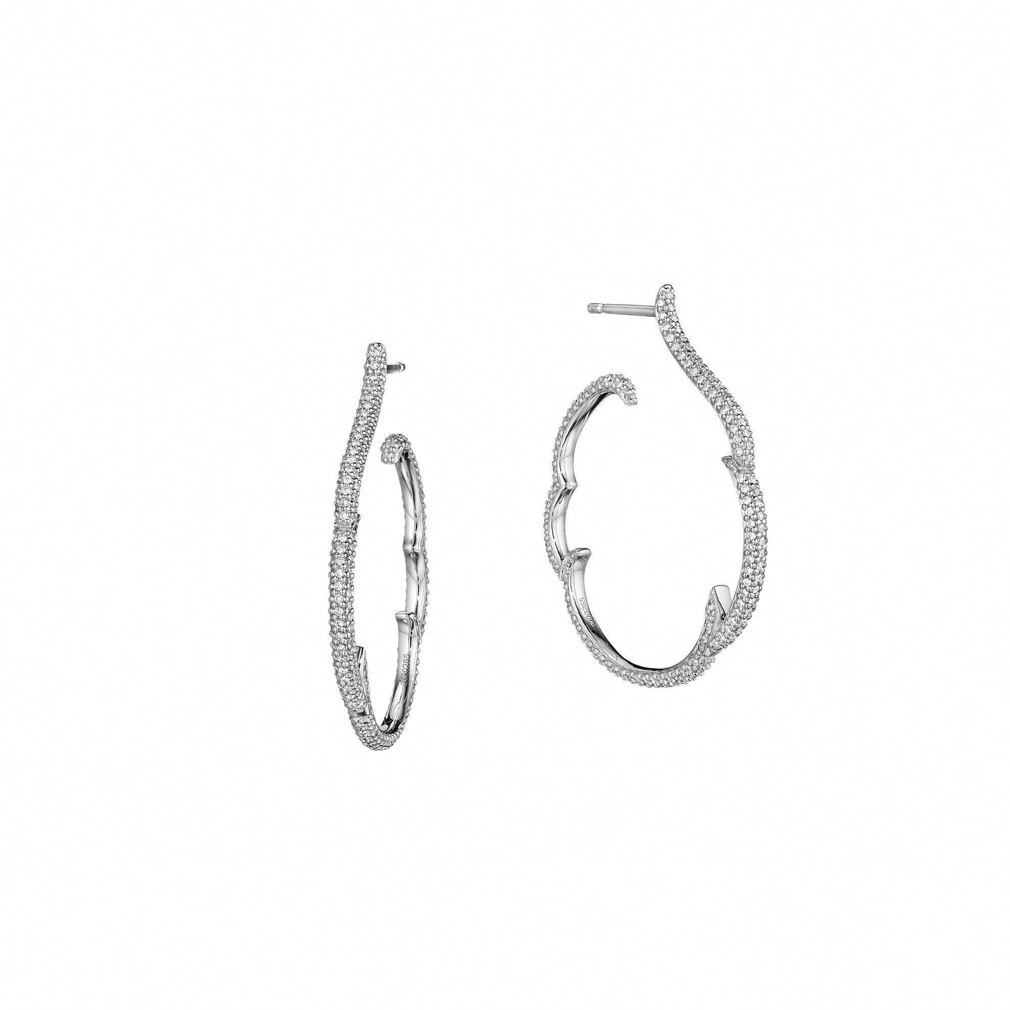 Piercing jewellery names  ZoZo Pave Diamond Hoops Earrings diamondhoopearrings  Jewelry