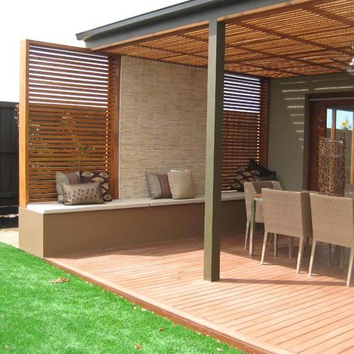 Porches de madera ideales para decorar su terraza - Decoracion patios exteriores ...