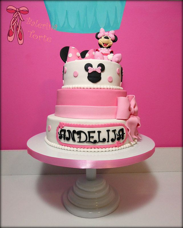 Minnie Mouse Cake – Mini Maus torta by Balerina Jagodina