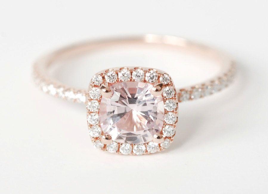 Beautiful Unique Engagement Rings Halo Setting Handmade Weddings On