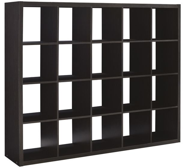 Modern Sixteen Square Cubbies Solid Black Closet Storage Unit With Cubes  Shelves Cabinet Shoe Organizer Space Saver Shelving Unit With Boxes Patio  Furniture ...