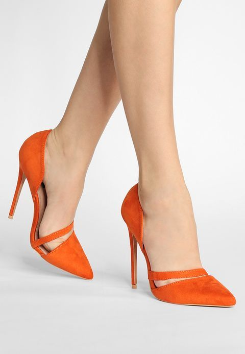 Lost Ink GINGER CUT VAMP COURT - High heels - orange tC0Ew