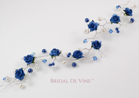 Navy Blue Light Blue Royal Blue Blue Shades Mulberry Roses Hair