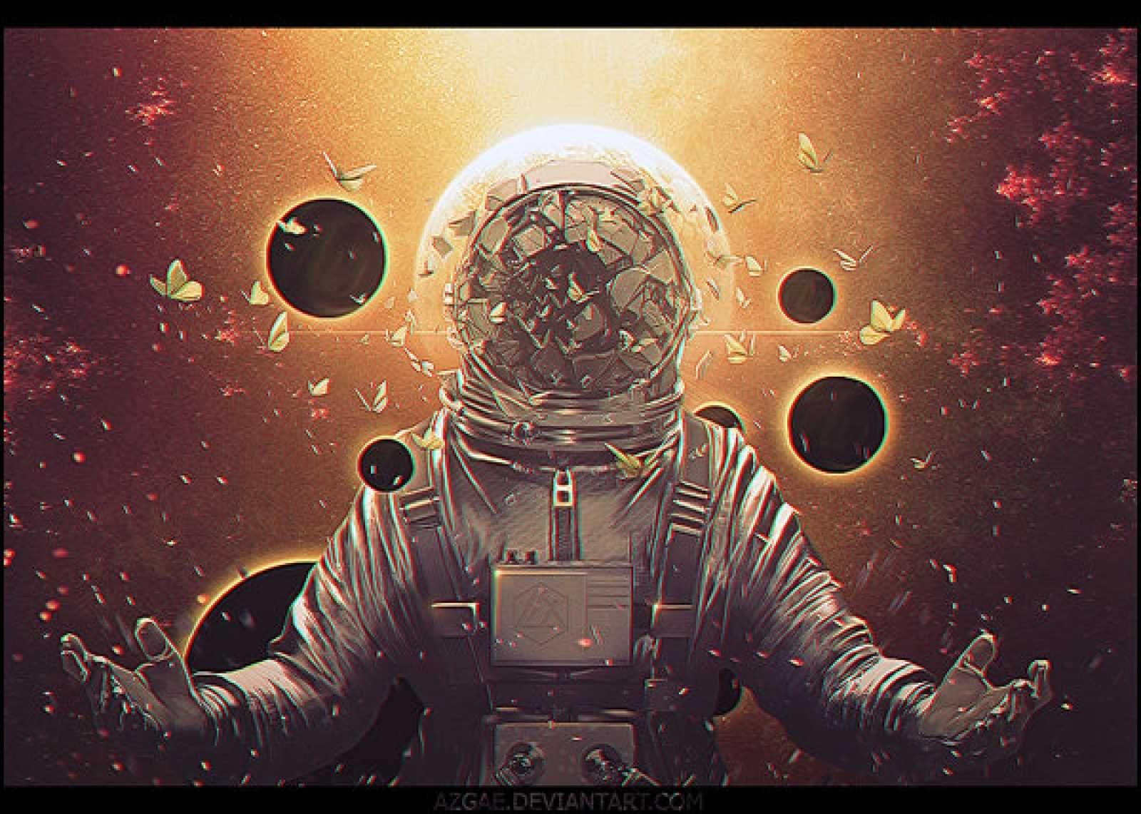 таком космос и космонавты арты что