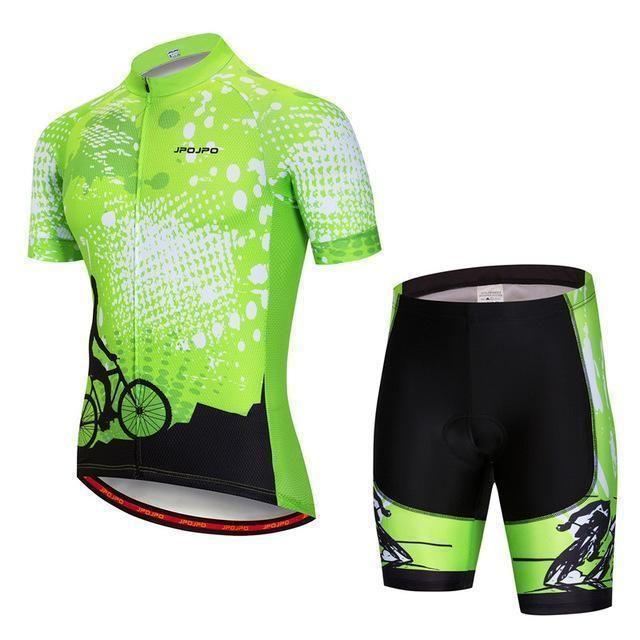 Cycling Clothing Bike Wear Short Sleeve Bicycle Jersey Shorts Set Men Sport Suit