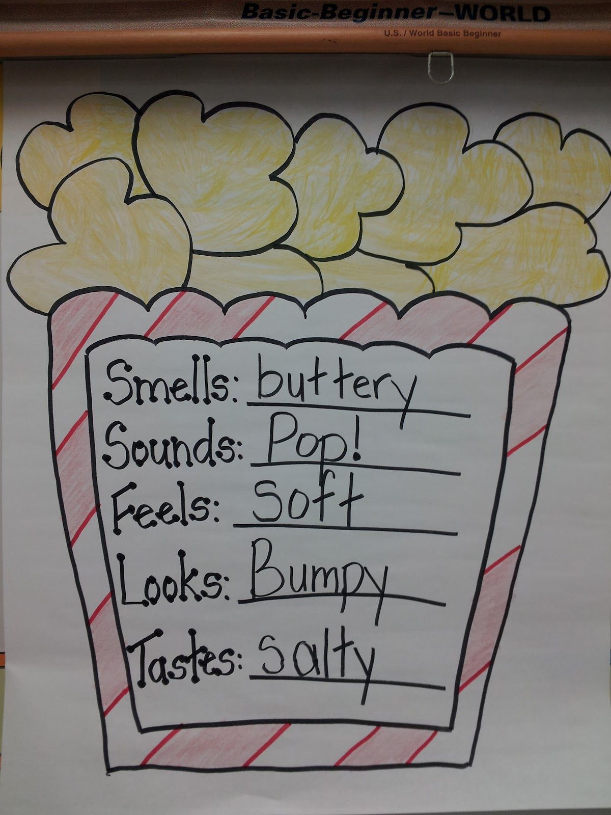 Five Senses With Popcorn Would Be Cool To Do During Snack Time Has The Students Learning When