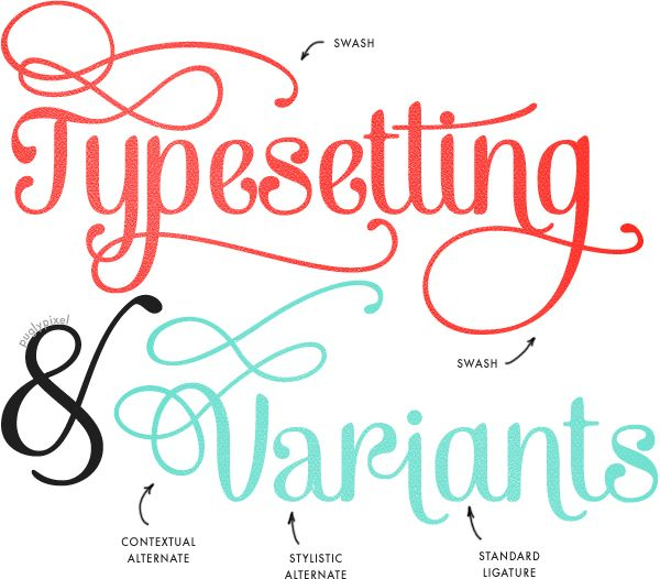 How to Access Font Variants - Puglypixel Blog